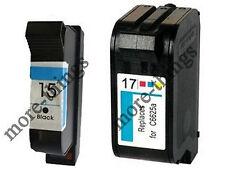 HP 15 & 17 Ink Cartridges For Deskjet 840c 842c Printer