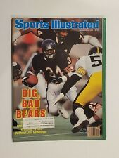 1986 Sports Illustrated Walter Payton Chicago Bears Sweetness HOF Free Shipping