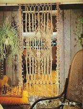 RARE Vtg Macrame Marvels Craft Book with Room Divider Curtain Pattern Retro