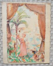 Aquarelle originale de MAURICE JEAN MICHA - 1930 - Fauve - Belgique - 4