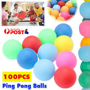 100Pcs Colored  Pong Balls Entertainment Table Tennis Mixed Colors for Game Toy