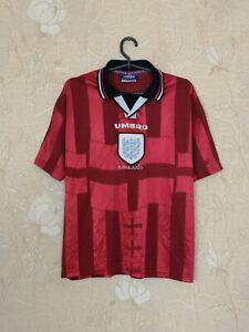 England 1997 - 1999 away football shirt jersey Umbro size Y