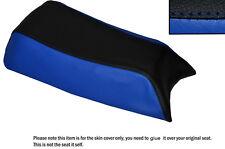 R Blue & Negro Custom encaja Puch Magnum X 50 De Cuero Funda De Asiento Solo