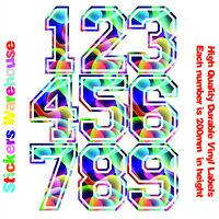 3x House Numbers Durable Vinyl Stickers Decals for House Bin Door Window Wall V2