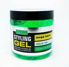 BEAUTY FORMULAS STYLING GEL MEGA HARD HOLD 10 PRO VITAMIN B5 ALCOHOL FREE 500ml