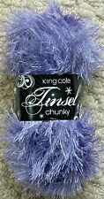 Wool Yarn King Cole Tinsel Lilac 2 X 50gm Balls 100 GM Chunky Toys Boleros