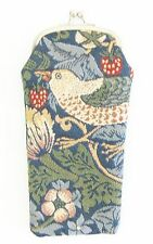 Strawberry Thief Bird Design Tapestry Reading Glasses Soft Pouch/Case - Signare