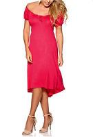HappyHolly CERISE Off-Shoulder Stretch Gypsy Dress SIze 6 8 10 12 14 16 18 *NEW*