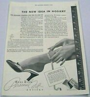 1936 Print Ad Real Silk Personal Fit Hosiery Stockings Indianapolis,IN