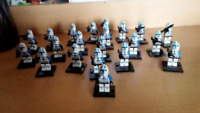 21Pcs Minifigures Star Wars Blue Clone Trooper Clone Army Trooper Lego MOC