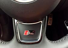 Metal Black Sline Steering wheel Badge Sticker For Audi A Q S 3 4 5 6 7 Sline