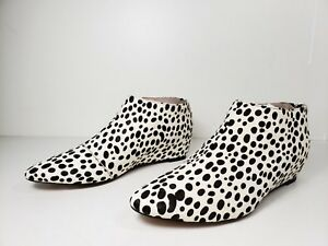 $228 size 8.5 Avec Les Filles Beatrice Leopard Hair Calf Booties Womens Shoes