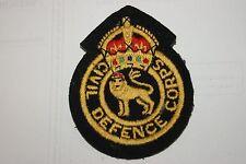JOB LOT X 10 BRITISH ARMY CIVIL DEFENCE BADGE PATCH SEW ON POST WW2 BADGES NEW