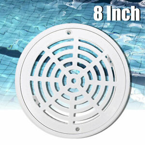8 Inch Replacement ABS Universal Round Swimming Pool Main Drain Cover White