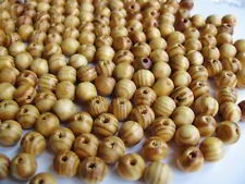 50 o. 100 Holzperlen braun 10,5mm, Schmuck, Perlen basteln, fädeln Holzmaserung