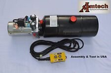 4206C Hydraulic Power Unit, Hydraulic Pump,12V Double Acting,6Qt, Dump Trailer