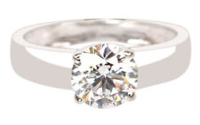 2.10Ct Round Shape D-Color Solitaire Engagement Ring In Finest 14Kt White Gold