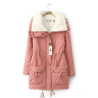 1x Femme Doudoune Blouson Manteau Longue Cachemire Faux Jacket Hiver Chaude Mode