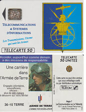 TELECARTE PHONE CARD MILITAIRE ARMEE TRANSMISSIONS 1992 PORT A PRIX COUTANT