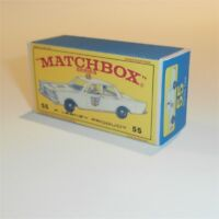 Matchbox Lesney 55 c Ford Galaxie Police Car empty Repro E style Box