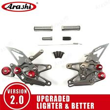 For Triumph Daytona 675R 2013 - 2018 Adjustable Footrest Rearsets New Foot Pegs