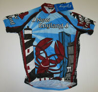 New England 1/2 Zip Cycling Jersey New with Tags Mens Sizes Canari Multicolor