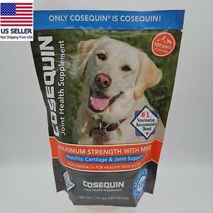 Cosequin 120 Soft Chews Max Strength + MSM + Omega3 All size dogs EXP SHIP