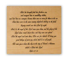 Luke 2 mounted rubber stamp, Christian bible verse religious Christmas story CM7