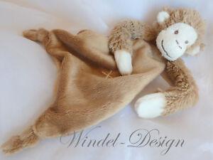 Schmusetuch mit Namen Kuscheltuch Affe Äffchen Schnuffeltuch