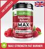 Raspberry Ketone MAX PURE FAT BURNER *180 CAPSULES* Super Strong Weight Loss UK