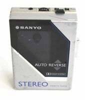 Vintage Sanyo M-G80D Stereo Cassette Player Auto Reverse W/ Belt Clip Sold As Is