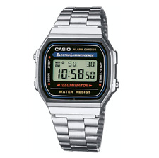 Casio Classic A168WA-1WDF Silver Stainless Steel Digital Watch
