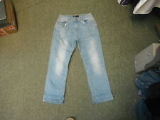 "Peacocks Cropped Jeans Size 8 Leg 24"" Faded Medium Blue Ladies Jeans"