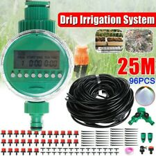 Plant Automatic Drip Irrigation System Kit Timer Self 49ft Watering Garden Hose