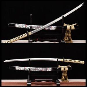 Japanese Samurai Katana Sword 1095 High Carbon Steel Blade Full Tang Handmade