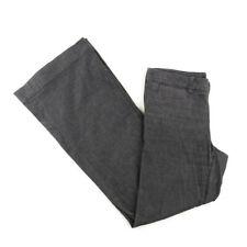 Banana Republic Womens Flare Bottom Stretch Pants Casual Size 2 Gray Black