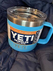 YETI 14 oz Rambler Mug - Reef Blue Discontinued Color Rare