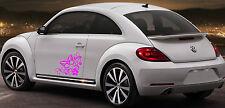 Butterfly Flower Art Vinyl Sticker 2x Novelty Label EURO JDM Car/Window/Bumper 6