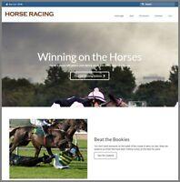 HORSE BETTING Website Earn £9.51 A SALE|FREE Domain|FREE Hosting|FREE Traffic