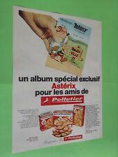 PUBLICITE - PELLETIER - ALBUM SPECIAL ASTERIX AMIS - PAIN GRILLE ( H4 )