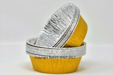 130 x Gold Pukka pie/quiche Foil Dishes Round 110/33mm