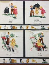Vintage Rare Michael Miller Sally Look! Panel Dick And Jane Quilt Cotton Fabric