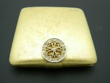 Avon IMPERIAL Jewel Compact Square Powder Puff with Case Mirror Vintage