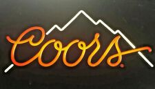 Early Vintage Advertising Lighted Bar Sign Coors Beer