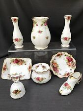 ROYAL ALBERT OLD COUNTRY ROSE  JOB LOT OF  8 Small Quality Items