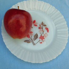 Tea plate Termocrisa Mexico vintage 1970s milk glass 7 inch side plate fluted
