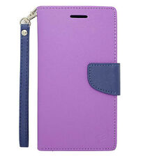 For ZTE Warp Elite N9518 Leather Wallet Flip Case Cover w/ Card Holder & Strap
