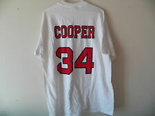 Vintage 1990s SCOTT COOPER Boston Red Sox Mens Extra Large T-Shirt New Deadstock