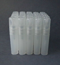 25 Clear Refillable Perfume Atomizer Plastic Mini Spray Empty Bottles 5ml .17 oz