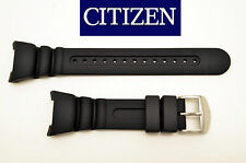 Citizen ECO DRIVE original watch band BLACK rubber strap JV0010-08E JV0000-10F